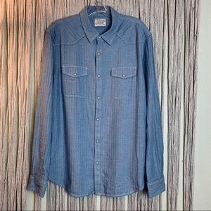 Lucky Brand Blue Long Sleeve Button Down Size L